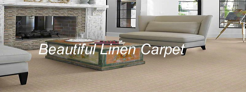 beautiful linen carpet