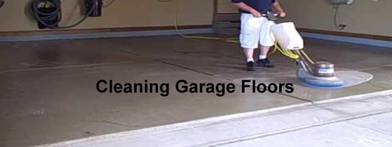 cleaning garage floors