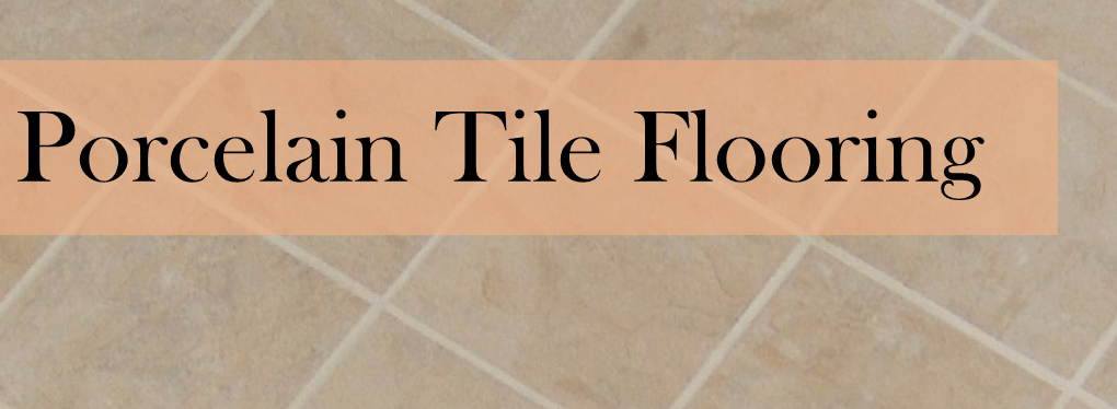 porcelain tile flooring header