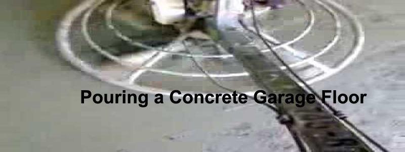pouring a concrete garage floor