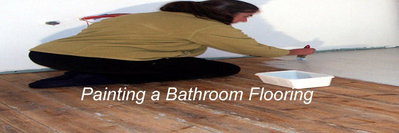 painting a bathroom flooring