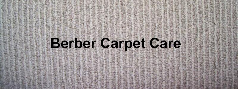 berber carpet care