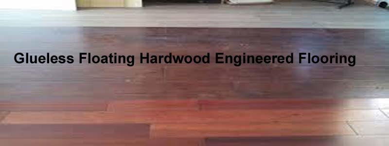glueless floating hardwood engineered flooring