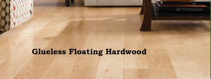 glueless floating hardwood