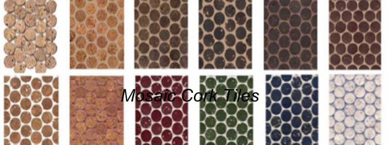 mosaic cork tiles
