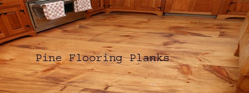 pine flooring planks