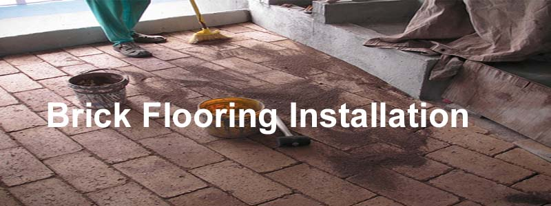 brick flooring installation