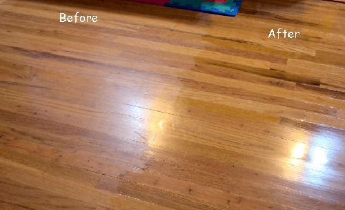 Polishing Affects - Weiman High Traffic Hardwood Floor Polish & Restorer - TheFlooringlady