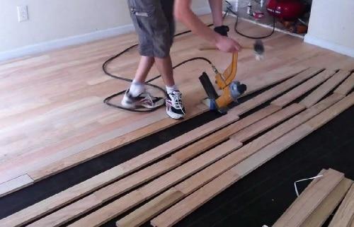 Professional Installing Hardwood Flooring