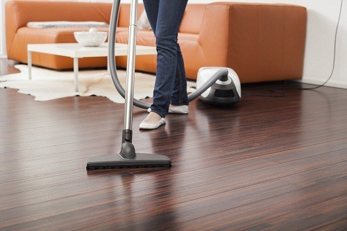 Vacuuming Flooring