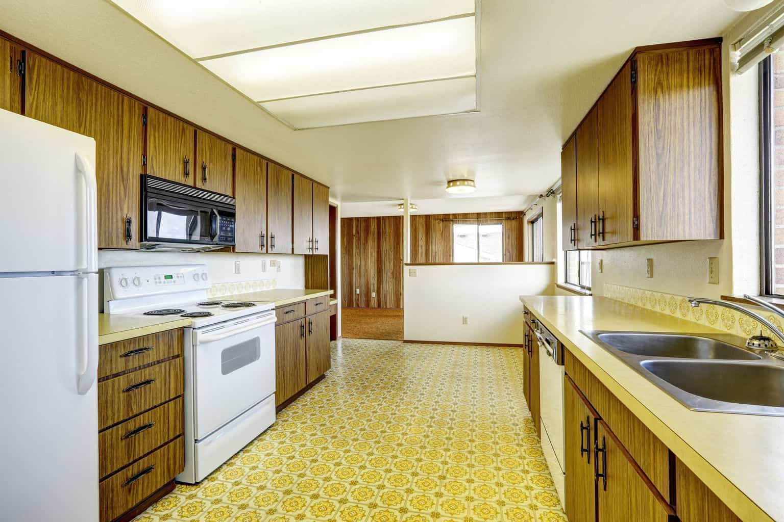 Linoleum kitchen images galleries for Kitchen linoleum tiles
