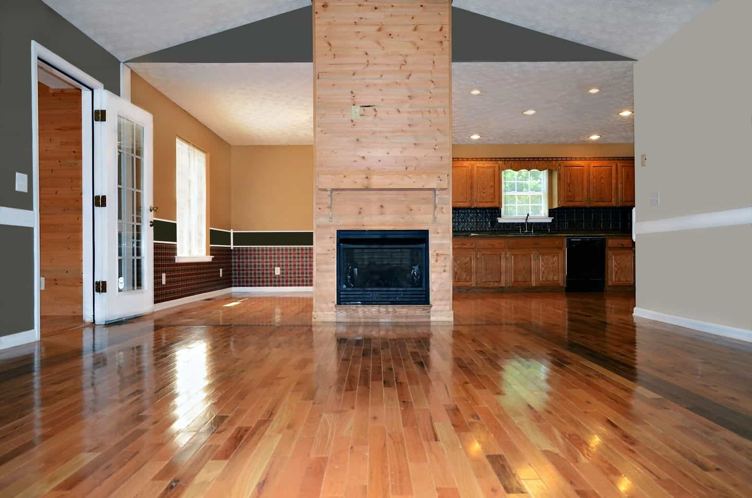 Engineered Hardwood Uses A Thin Strip Of Natural Wood As The Top Layer Instead Printed Image