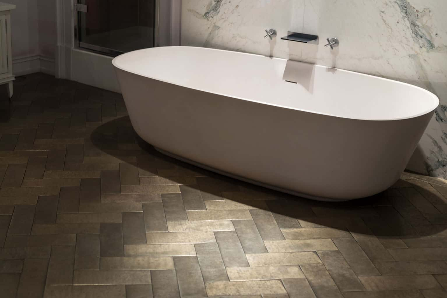 Bathroom tile flooring options wood floors for Bathroom laminate flooring
