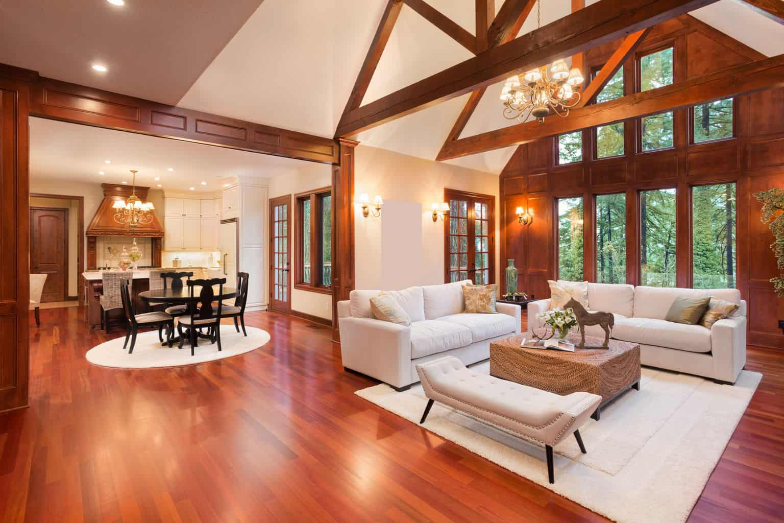 Engineered hardwood designs for your floor the flooring lady - Hardwood floor living room design ...