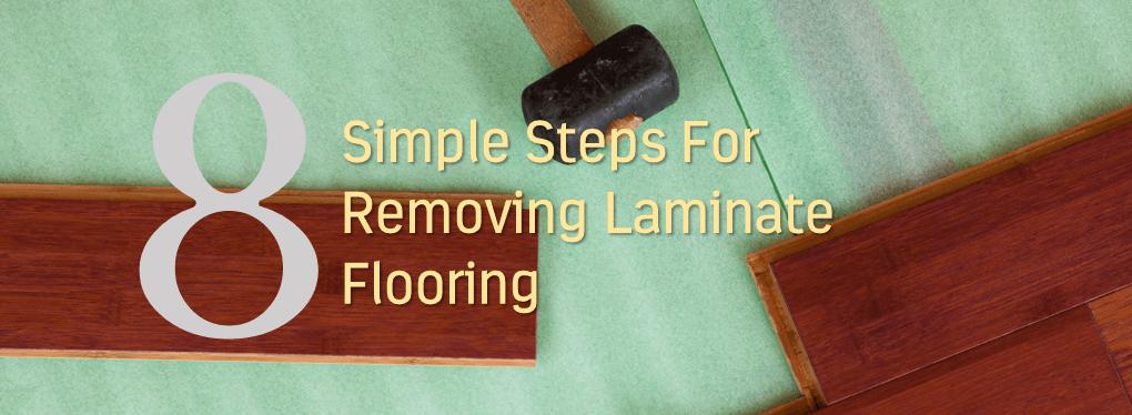 Removing Laminate Flooring step 1 If