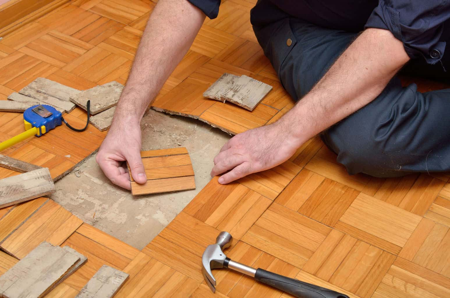 Repairing Your Oak Parquet Floor The Flooring Lady