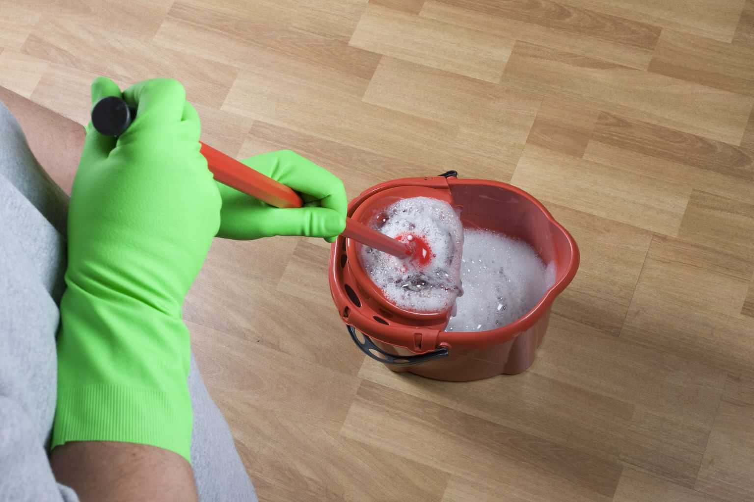 you do not require an expensive mop as a simple model will be adequate for cleaning a laminate floor